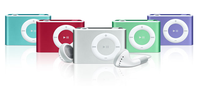 les differents types de Ipod shuffle Ipod-s10