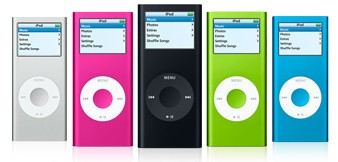 les differents types de Ipod nano Nano210