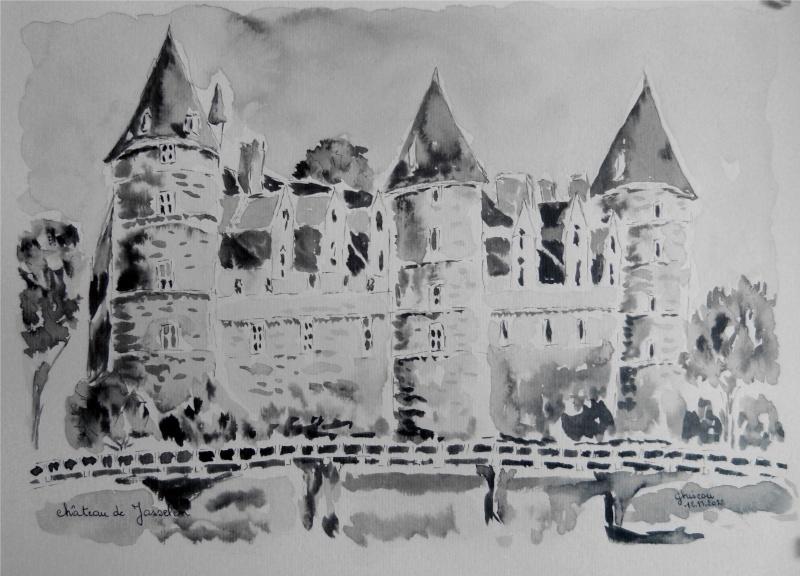 Chateau de Josselin (encre de chine) Chatea10