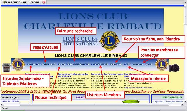 COMMENT NAVIGUER SUR LE FORUM LIONS RIMBAUD Connex12