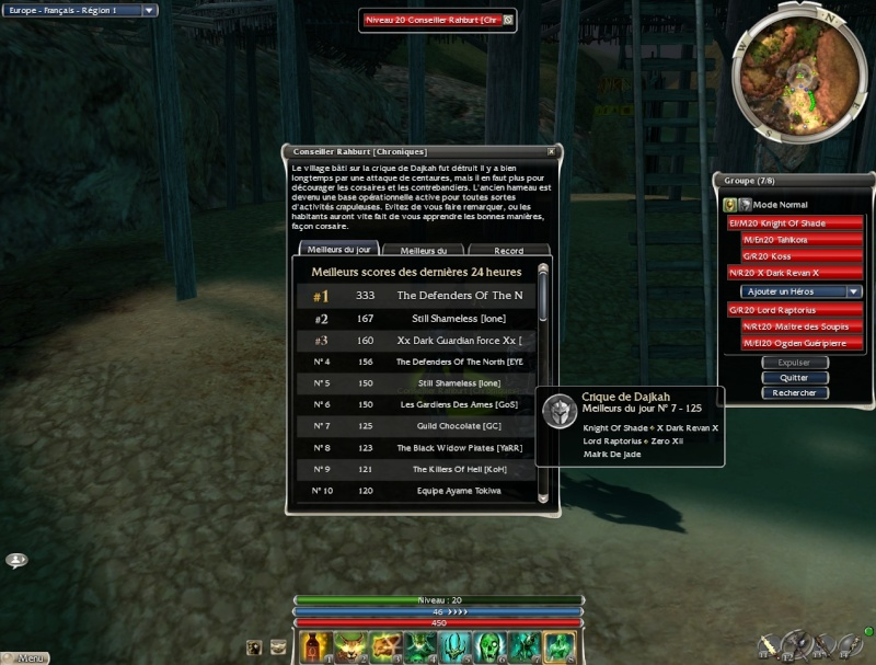 La guilde dans la crique sur Nightfall Gw28711