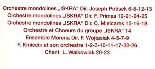 """Discogr. de l'Orchestre de Mandolines """" ISKRA """" Iskra410"""