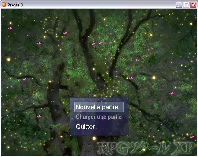 Pétale de fleur à l'écran titre Sansti10