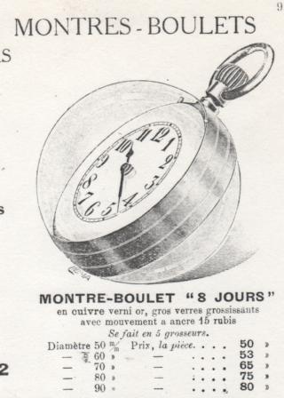 """Recherche infos sur montre """"à boule"""" Montre10"""