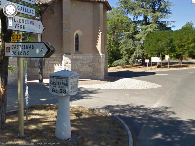 STREET VIEW : les bornes et les plaques Michelin Borne510