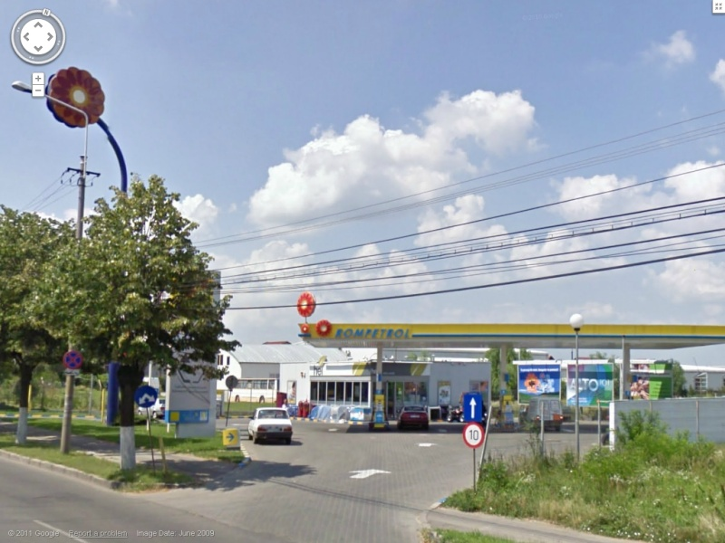 STREET VIEW : les enseignes de stations carburant / essence Rompet10