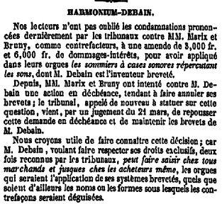 Le procès en contrefaçon de Debain - 1845 La_fra10
