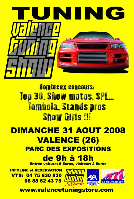 4ème VALENCE TUNING STORE - 31 AOUT 2008 - Page 2 Affich10