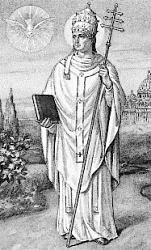 Medalla de San Gregorio y San Jerónimo / Santa Rita de Casia Gregor10