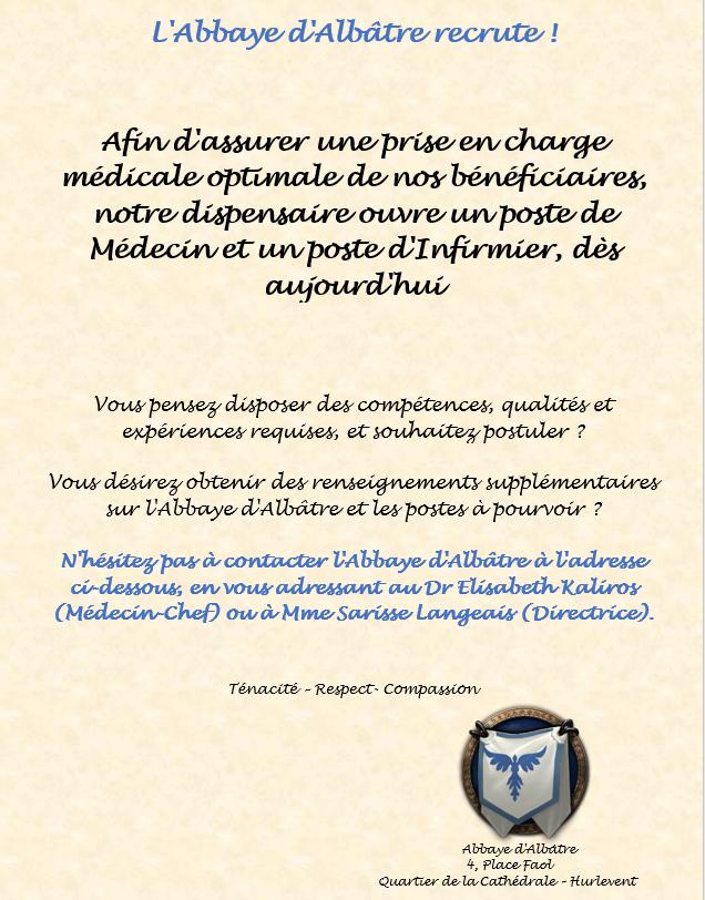 Communications publiques de l'Abbaye d'Albâtre Affich16
