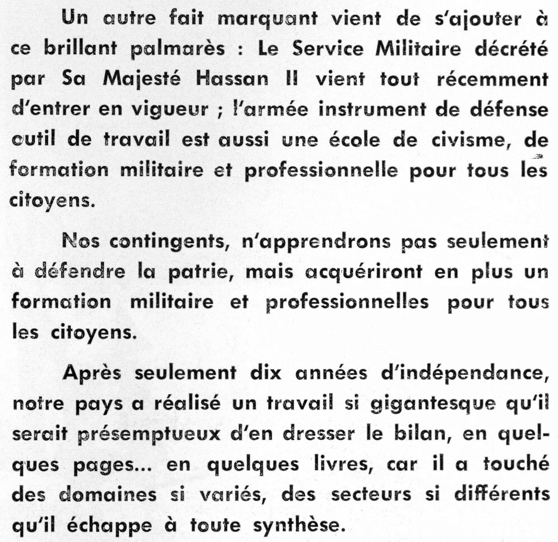 9 juin 1966, Institution du service militaire obligatoire Clipb413