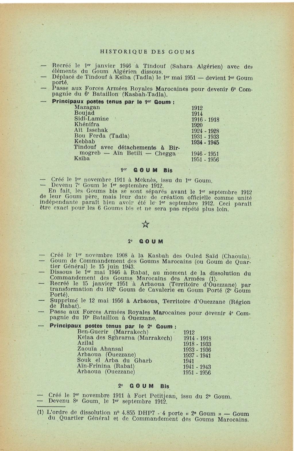 12 mai 1956 - Dissolution des Goumiers & integration aux FAR La_kou11
