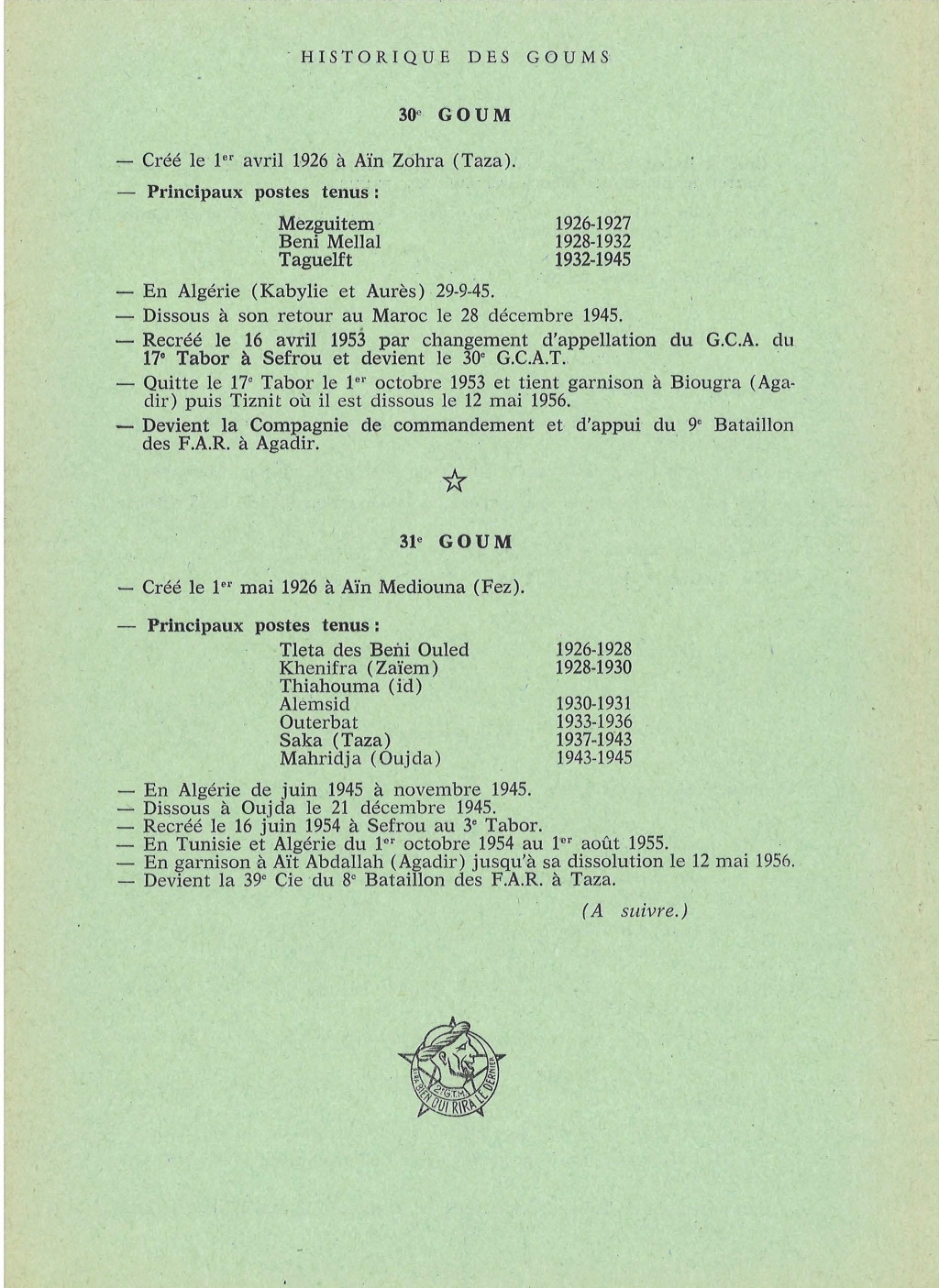 12 mai 1956 - Dissolution des Goumiers & integration aux FAR La_kou22