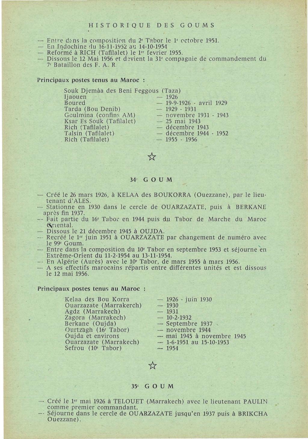 12 mai 1956 - Dissolution des Goumiers & integration aux FAR La_kou24