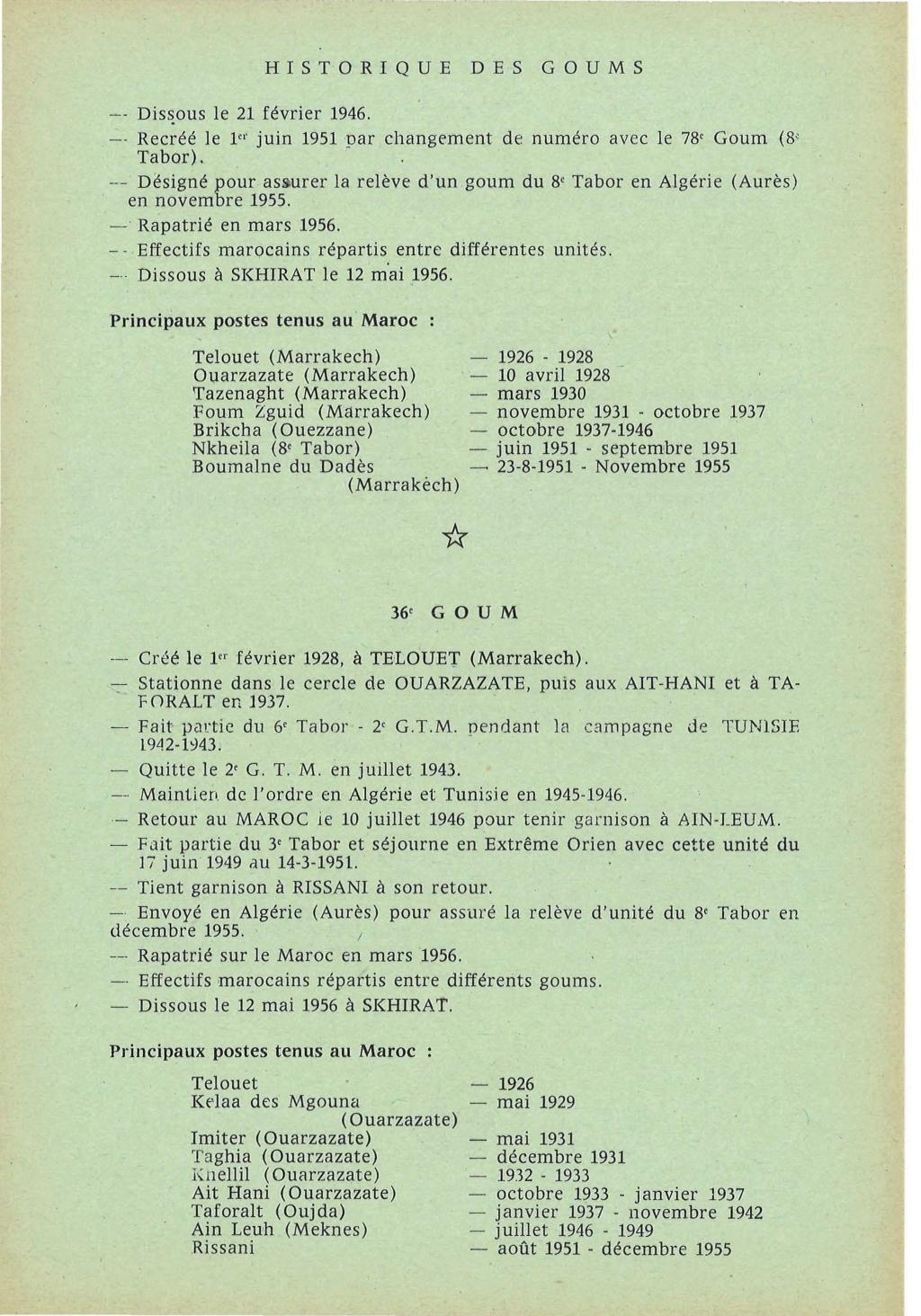 12 mai 1956 - Dissolution des Goumiers & integration aux FAR La_kou25
