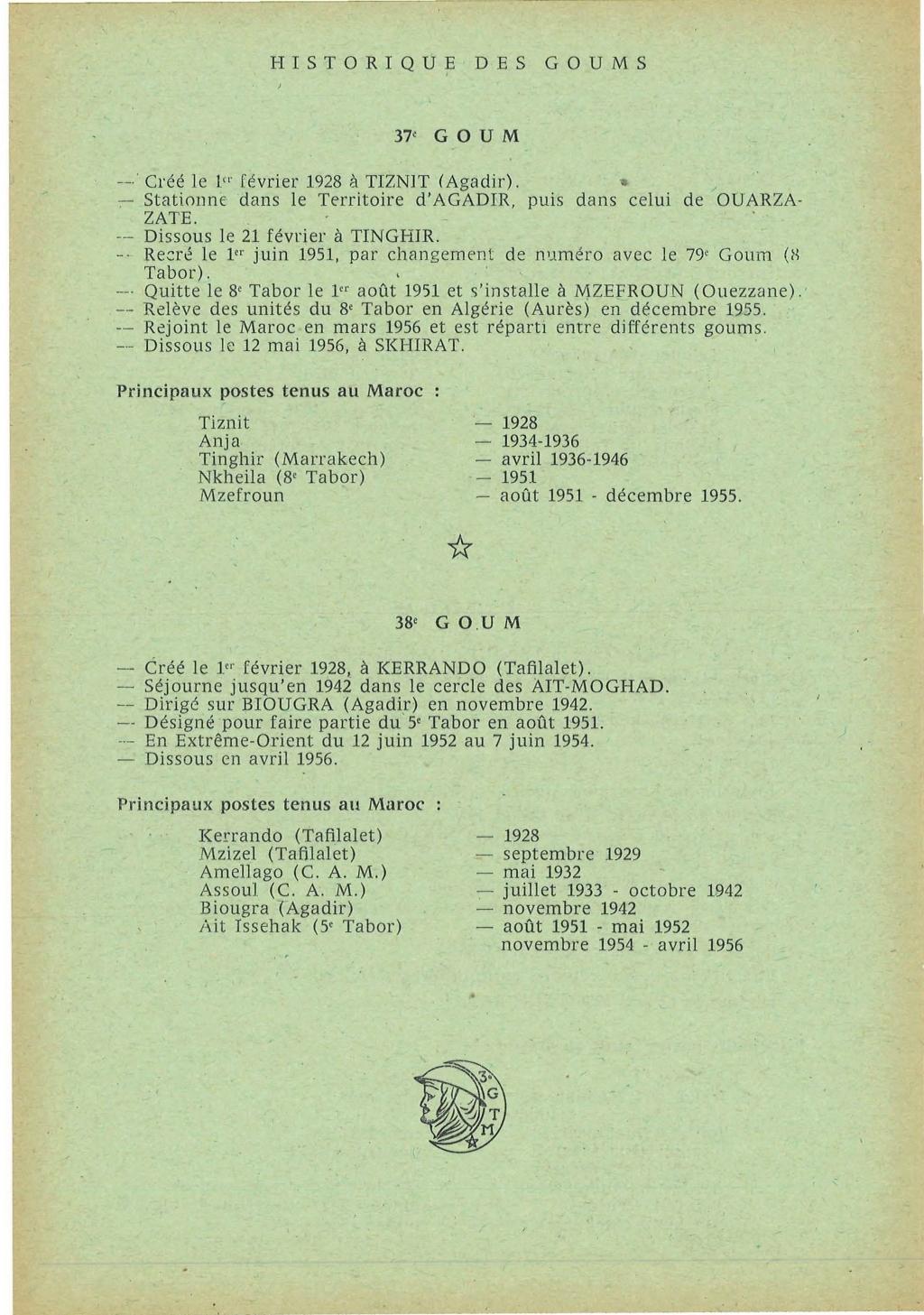 12 mai 1956 - Dissolution des Goumiers & integration aux FAR La_kou26