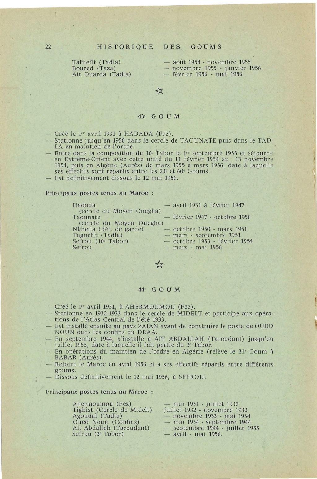 12 mai 1956 - Dissolution des Goumiers & integration aux FAR La_kou29