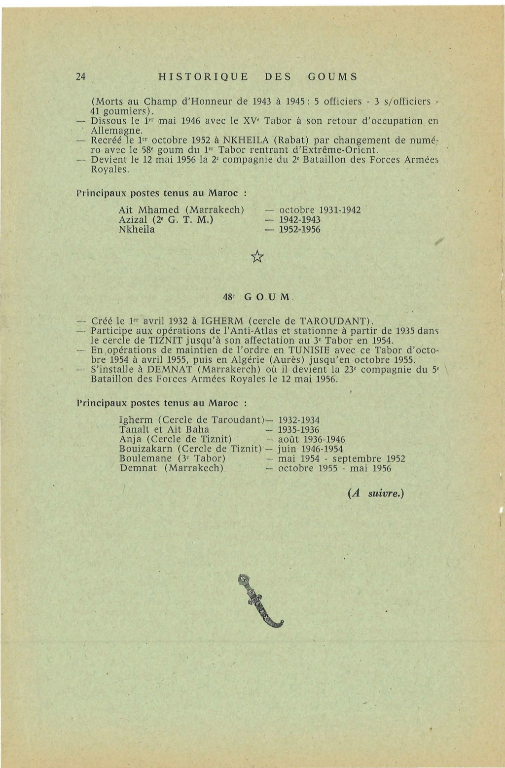 12 mai 1956 - Dissolution des Goumiers & integration aux FAR La_kou31