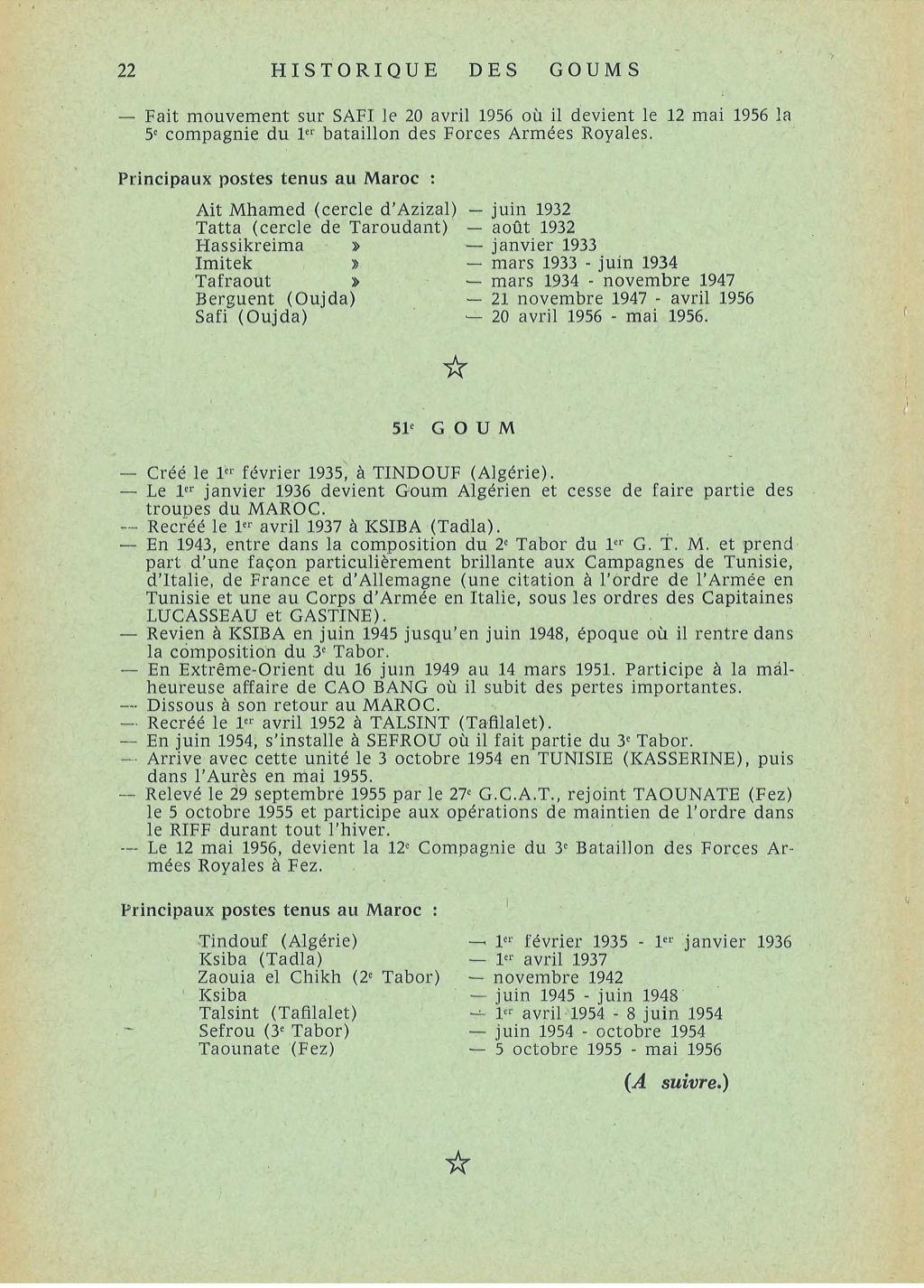 12 mai 1956 - Dissolution des Goumiers & integration aux FAR La_kou33