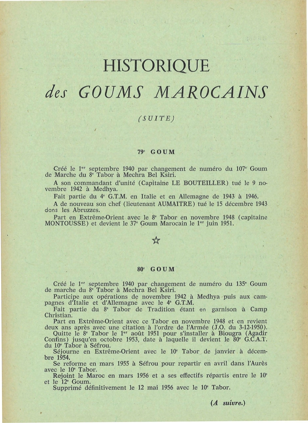 12 mai 1956 - Dissolution des Goumiers & integration aux FAR La_kou44