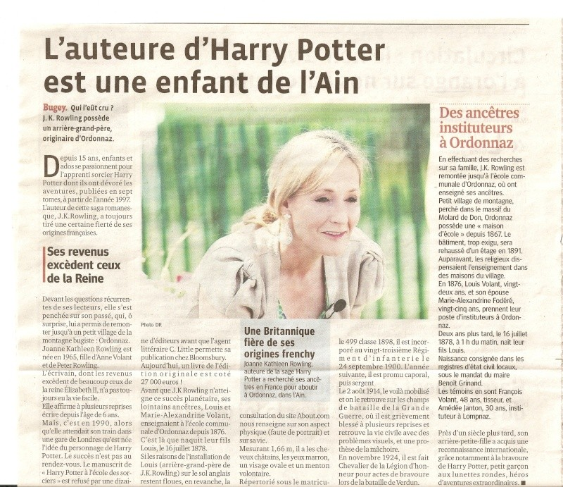 jk Rowling a des origines dans l'Ain !!! Numari10
