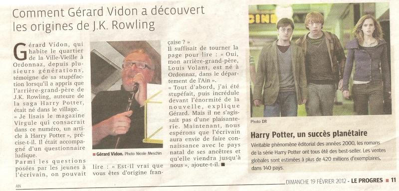 jk Rowling a des origines dans l'Ain !!! Numari12