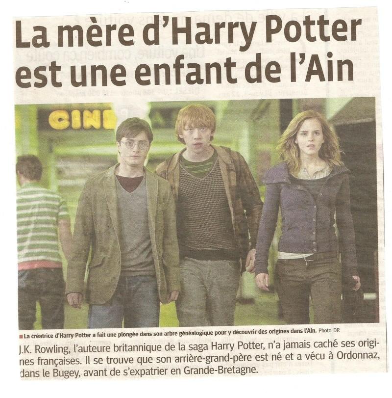 jk Rowling a des origines dans l'Ain !!! Numari13