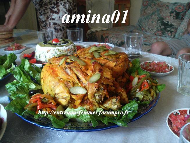 Poulets cuit à la vapeur à la marocaine Poulet10