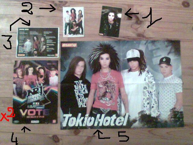 vend/echange poster et carte postal de plusieur groupe Photo028