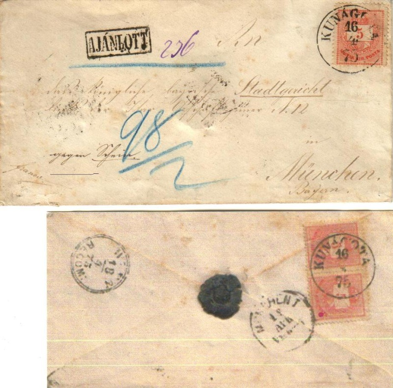 Aus Ungarn 1875 nach Bayern ... 1647510