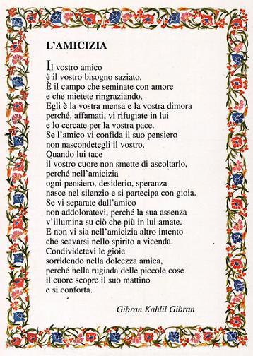 GLI AMICI E....L'AMICIZIA Amiciz11