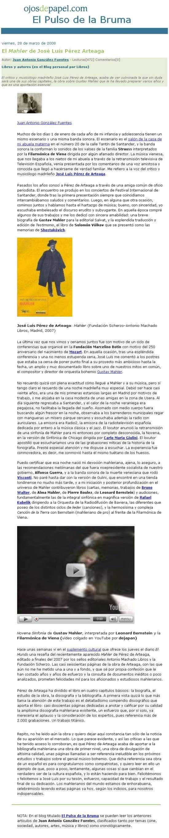 """""""Mahler"""" de José Luis Pérez de Arteaga 20080510"""