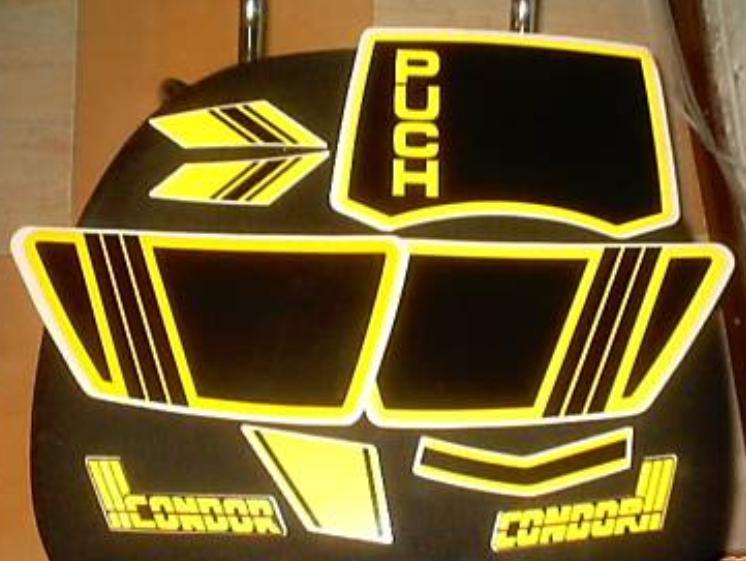 Adhesivos Puch Condor III (negra/amarilla) 0191
