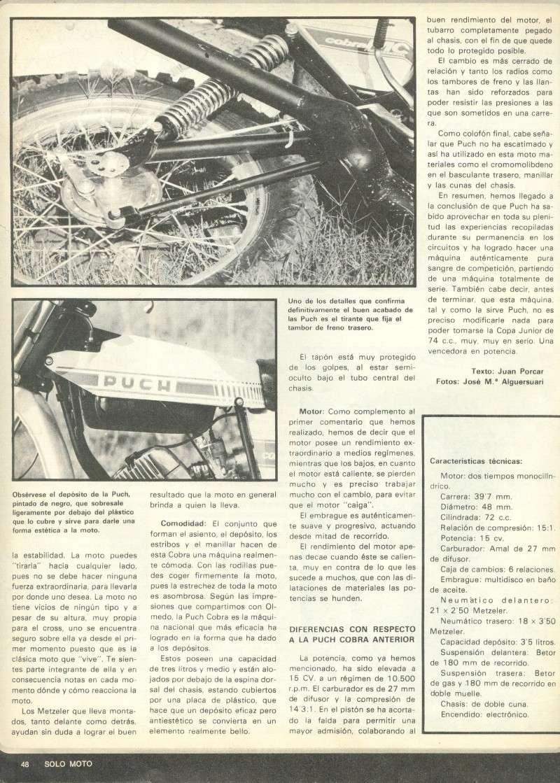 Solo Moto 099 - Julio 1977 - Puch Cobra MC Professional 0525