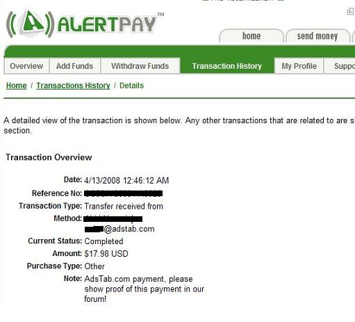 MY PAYMENT PROOF  **ADSTABER** Adstab29