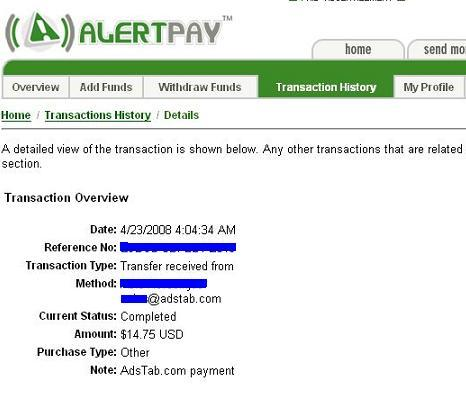 MY PAYMENT PROOF  **ADSTABER** Adstab31