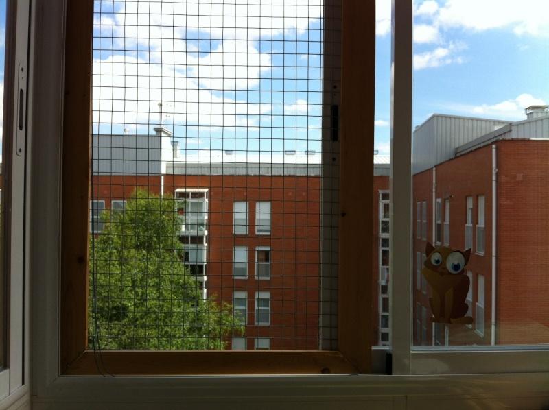 redes - Resumen de ideas para mosquiteras y redes ventanas y balcón para gatos. Ventan10