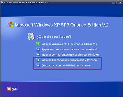 Windows xp SP3 Orionce V.3 SP3 + WMP12 + IE8 + WLM + SATA + WLAN 65ekx710