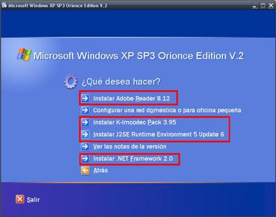 Windows xp SP3 Orionce V.3 SP3 + WMP12 + IE8 + WLM + SATA + WLAN Xjt2l510