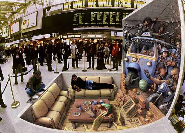 arte 3D sul marciapiede Kurt_w11