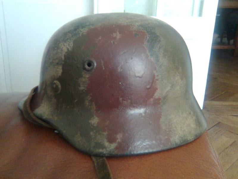 casque all. SS camouflé avec nom du soldat à l'intérieur Photo017