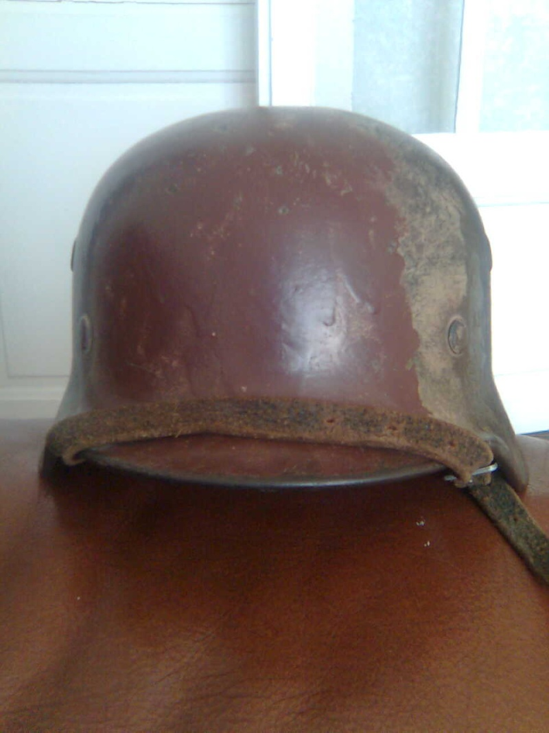 casque all. SS camouflé avec nom du soldat à l'intérieur Photo018