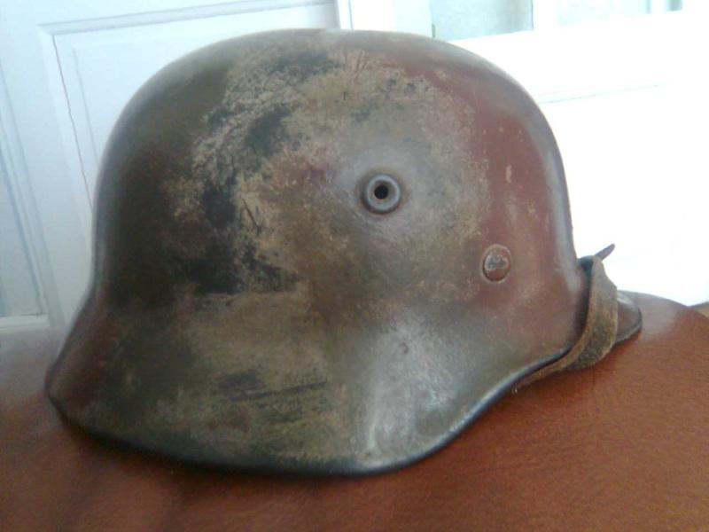 casque all. SS camouflé avec nom du soldat à l'intérieur Photo019
