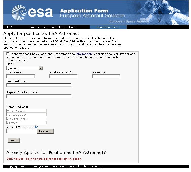 Troisième sélection d'astronautes ESA (1re partie) - Page 5 Esa_se10