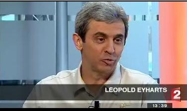 Leopold Eyharts au journal de France 2 ce midi Leo_f210