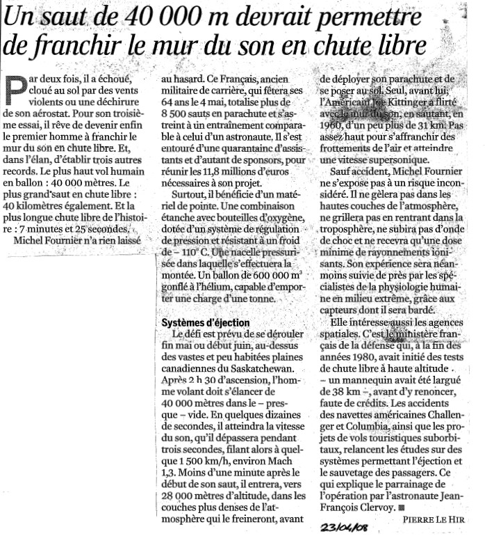 Michel Fournier (le grand saut) - Page 3 Monde211