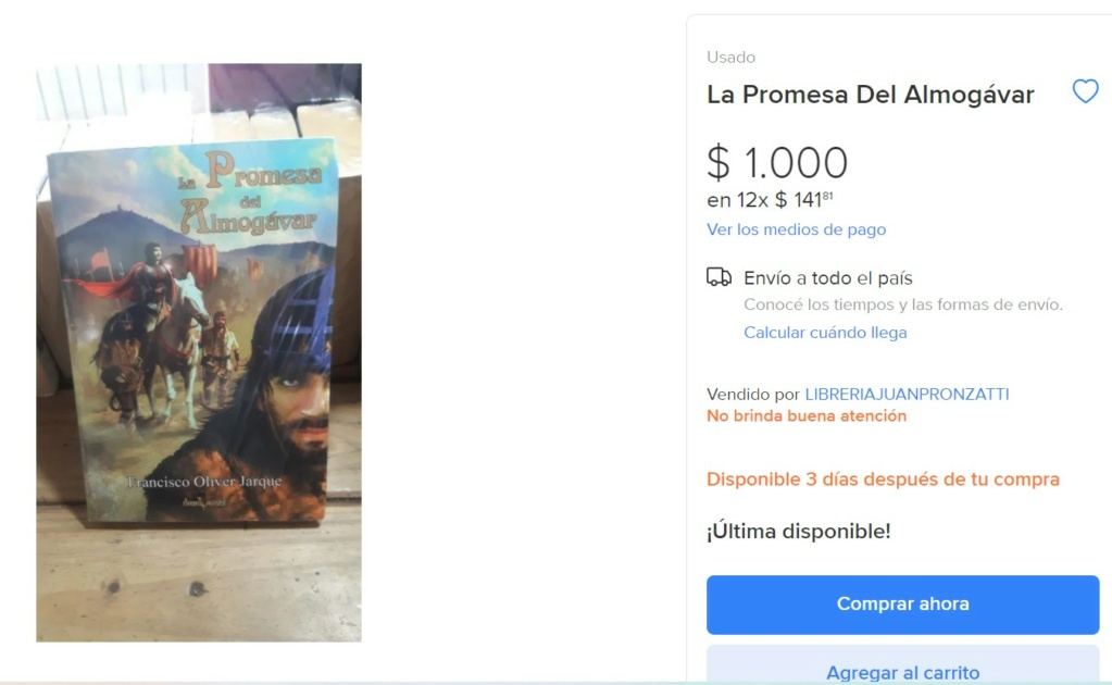 La Promesa del almogávar en Argentina Screen51