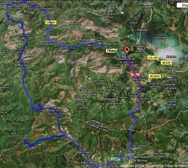 Cantabria inguruan Basoa Taldearekin Salida17