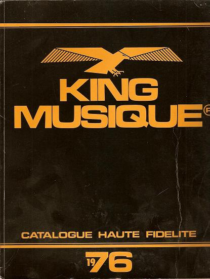 Le Catalogue KING MUSIQUE 1976 10031010