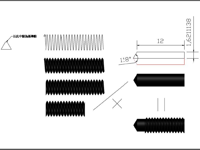 [討論]請問一下這題的內螺紋孔要怎麼畫? Caasez10